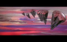 Hanging rock worlds.
