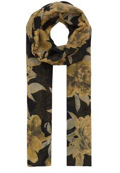 Schal mit Flower-Print    Nicht nur was für Blumenkinder ist dieser herrliche Hallhuber Schal. Der All-over-Print aus Blüten und Blättern zaubert sofort Frische und Farbigkeit in jede Garderobe. Das Material ist dezent transparent und trägt sich superkomfortabel. Der luftig-leichte Schal ist das i-Tüpfelchen auf jedem romantischen Style. Perfekt kombiniert sich der Hallhuber Schal zu Blumenklei...