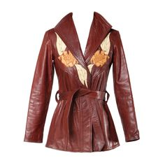 East West Musical Instruments Vintage Leather 'Del Rosa' Jacket | From a collection of rare vintage jackets at https://www.1stdibs.com/fashion/clothing/jackets/