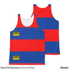Flag of Liechtenstein All-Over Print Tank Top