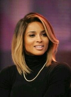 She usually prefers the blonde ombre hair color. Their natural hair color is dark brown. Hair color formula: The base of hair brown. Hair tips pale yellow. Love Hair, Great Hair, Gorgeous Hair, Weave Hairstyles, Pretty Hairstyles, Straight Hairstyles, Ciara Hairstyles, Short Haircuts, Curly Hair Styles