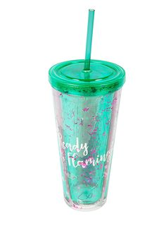 Junior Clothing | Sunnylife Flamingo Glitter Tumbler | Loveculture.com