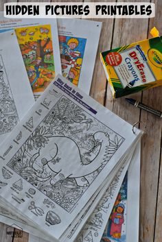 DIY Hidden Pictures Flip Books. Can be customized for toddlers clear up to older kids & are Awesome for traveling.