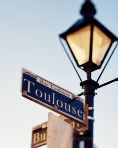 new orleans art toulouse street sign french quarter art lamp post new orleans photography french quarter photography by eireanneilis Toulouse, New Orleans History, New Orleans Art, Patagonia, New Orleans French Quarter, Professional Photo Lab, Street Lamp, Street Photography, Travel Photography