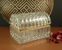 Diamond Cut Full Leaded Crystal Jewelry Casket // by Successionary, $396.99