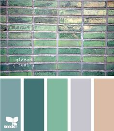 dreamy palette...glazed teal