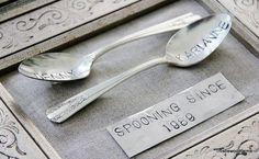 Perfect Valentine's Day gift: Stamped vintage spoons.