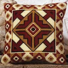 Inverse Geometric Cross Stitch Cushion Kit By Vervaco Motifs Bargello, Bargello Patterns, Cushion Embroidery, Embroidery Patterns, Hand Embroidery, Crochet Cushions, Tapestry Crochet, Cross Stitching, Cross Stitch Embroidery
