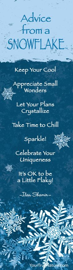 "This ""Advice from a Snowflake"""