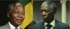 More Biopic Actors and Their Real-Life Counterparts - My Modern Metropolis  Nelson Mandela (Morgan Freeman in Invictus)