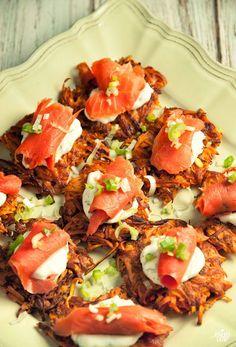 Sweet Potato Rosti With Smoked Salmon