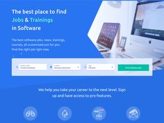 Landing page for a jobs platform by Madalina Taina