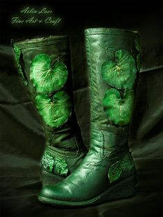 Boots Pagan Wicca Witch:  Mirkwood Footsteps Elvish #Boots, by Gwillieth, at deviantART.