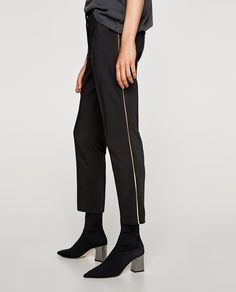 Image 4 of TROUSERS WITH SIDE STRIPE from Zara