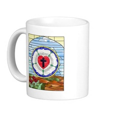 Luther Seal Stained Glass Window Mug $15.95