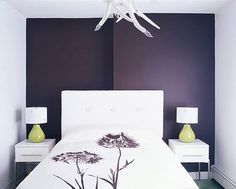 Dark purple walls or accent wall. Toying with the idea of a dark exam room color.