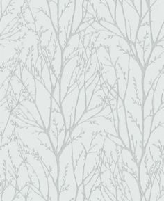 Twigs (31144) - Albany Wallpapers - A pretty all over twig design in silver on pale blue.  Available in other colours.  Please request sample for true colour match.  $31/roll