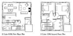 Black cube black box house on pinterest tiny house for Cube house design layout plan