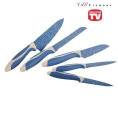 Cuchillos con la tecnología Flavor Stone. Cubiertos de zafiro y filo diamante.