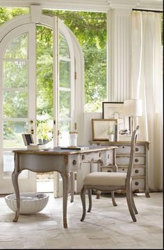 Hooker Furniture French Country Home Office Writing Desk. Shop @HomeSquare for the lowest prices and Free Shipping