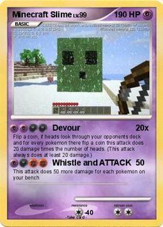 minecraft pokemon cards | Pokémon Minecraft Slime - Devour - My Pokemon Card