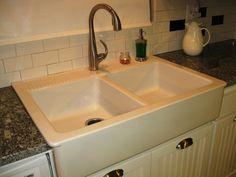 Cottage kitchen makeover on a budget...goodbye 1970s melamine, hello gorgeous! IKEA $299