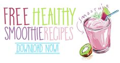 Free Healthy Smoothie Recipes via Healthy Smoothies, Healthy Drinks, Smoothie Recipes, Healthy Recipes, Weight Watchers Breakfast, Weight Watchers Meals, Arm Exercises, Butt Workouts, Workout Routines