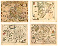 Старинные карты Европы и европейских стран - изображения высокого разрешения (FullHD+)