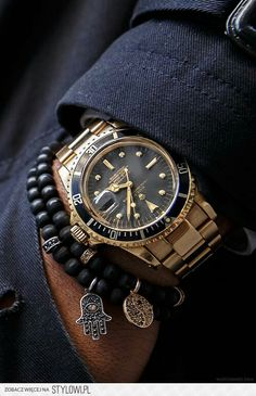 golden watch.