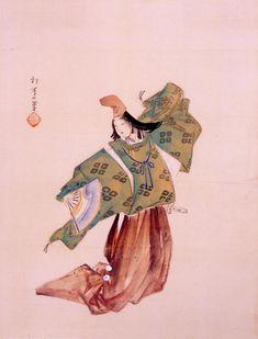 A shirabyoshi dancer dressed in kariginu by Uemura Shoen.