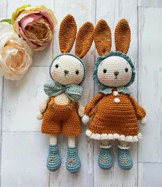 Crochet Rabbit, Cute Crochet, Crochet Dolls, Crochet Baby, Knit Crochet, Knitted Animals, Diy Doll, Handmade Toys, Baby Knitting