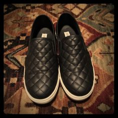 Steve Madden Ecntrcqt Quilted slip-on-style sneakers. Only worn a couple of times. Will be shipped in original box. Steve Madden Shoes Sneakers