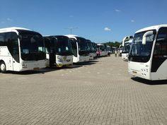 Zo'n 60 bussen staan klaar om alle congresdeelnemers naar de excursies en deelcongressen te brengen.