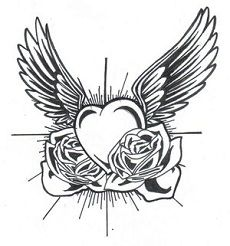 Broken Heart with Wings Tattoo | Four Heart With Wings Tattoos Meaningful Memories | Tattoo Artist ...