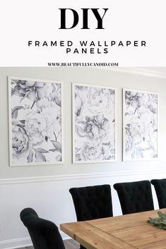 DIY Framed Wallpaper Panels - Beautifully Candid