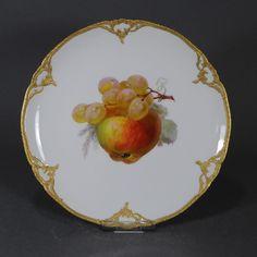 KPM Berlin Neuzierat Obstteller Prunkteller 22 cm ! Teller fruit plate Gold Obst