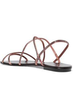 d92afe465 Pedro Garcia - Esme Swarovski crystal-embellished satin sandals