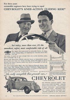 Vintage Automobile Advertising - 1936 Chevrolet, From Popular Science Magazine, June 1936.
