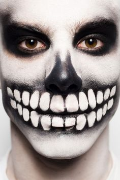 dia de los muertos makeup tutorial | Here is one for the boys! Day of the Dead (Dia de los muertos) makeup ...