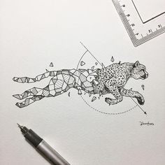 Geometric Beasts   Cheetah