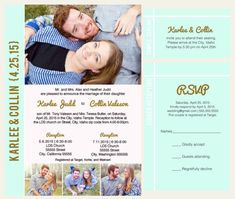 printable photo wedding invitation lds mormon wedding announcement temple wedding