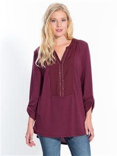 Tunique, top long, t-shirt femme, blouse longue, grande taille, pour toutes  les femmes 2996b50ae5a6
