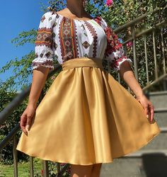 Rochie stilizata cu motive traditionale Laura - 41 | #ietraditionala #instafasion #romania #traditional #motivetraditionale  #rochie