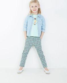 Pantalon avec un motif floral Kathy - JBC Webshop BE - FR