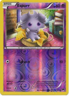 Espurr 58/122 Pokemon TCG: XY BREAKpoint Reverse Holo Pokemon Card #pokemon #pokemontcg #pokemoncards