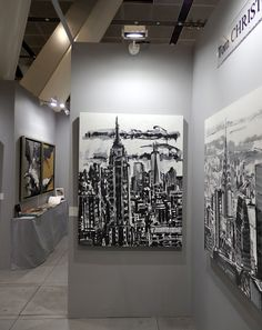 Black and white paintings in Tokyo