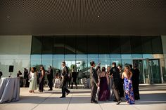 Wedding venue: Cocktail hour at Tampa Museum of Art