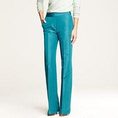 bright teal dress pants.