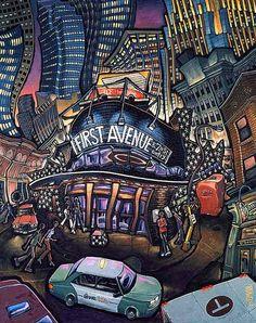 First Avenue Original Painting