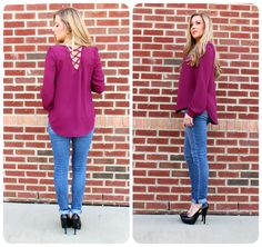 Need a date night outfit? This purple top will make the perfect outfit!
